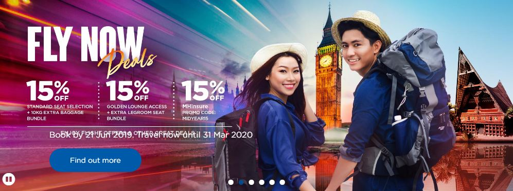 Nikmati Tambang Rendah Di Malaysia Airlines Sekarang Sehingga 21 Jun 2019